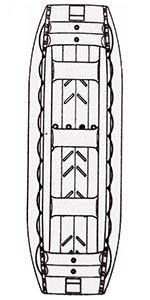Raft 500 - nákres